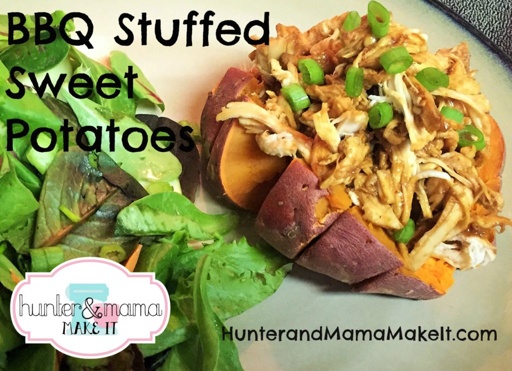 bbq stuffed sweet potatoes
