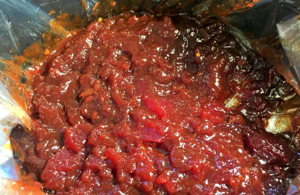 Cranberry Chipotle Meatballs- Stir All Sauce Ingredients